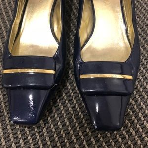 Escada navy loafers - 39.5